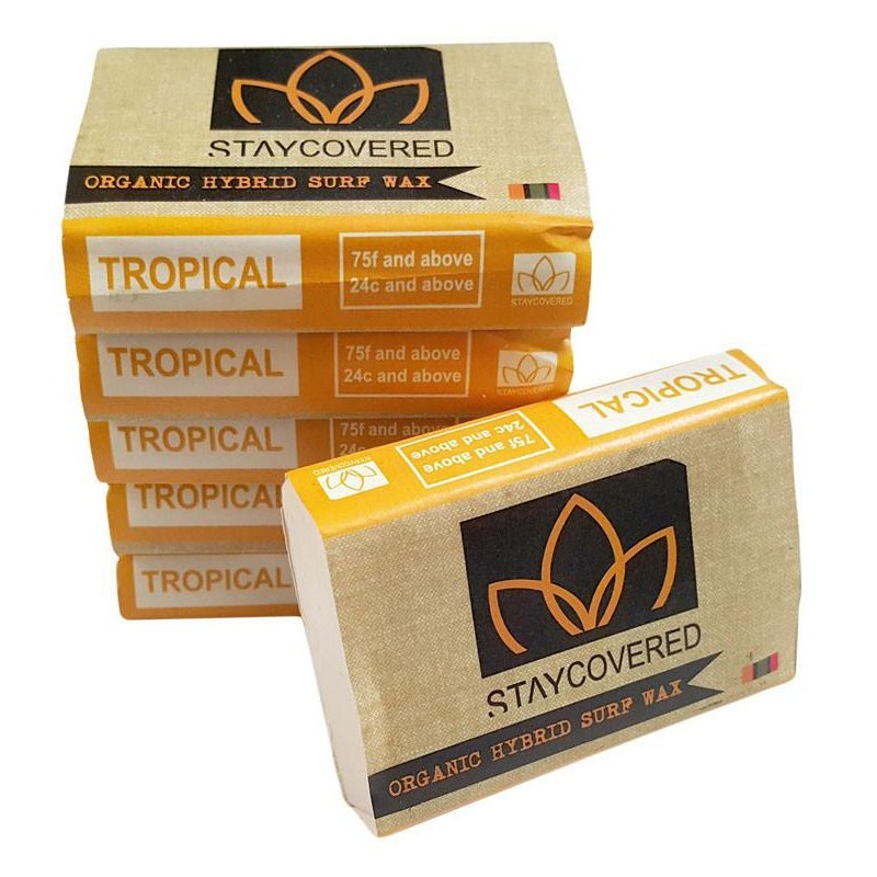 Surf Wax STAY COVERED Organic Hybrid - TROPICAL
