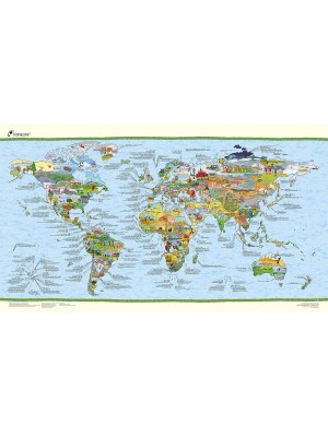 Poster Carte du Monde Football Awesome Map Re-writable