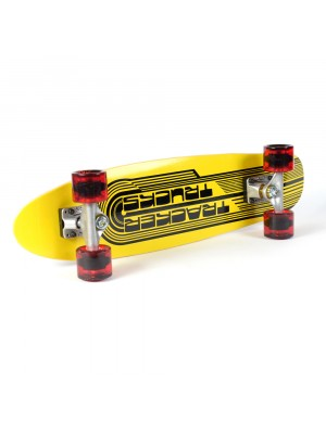 Skateboard TRACKER TRUCKS Classic Wing Cruizer - Yellow 29' (73 cm) - Red Wheels