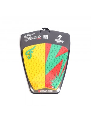 Traction Pad Surf FAMOUS Riot Squad (Kalani David pro model) - Yellow / Green / Red