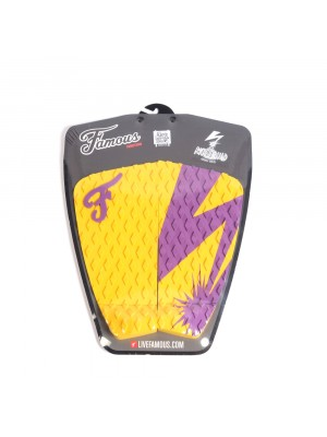 Traction Pad Surf FAMOUS Riot Squad (Kalani David pro model) - Yellow / Purple