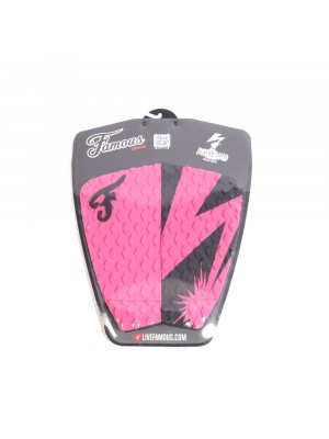 Traction Pad Surf FAMOUS Riot Squad (Kalani David pro model) - Pink / Black
