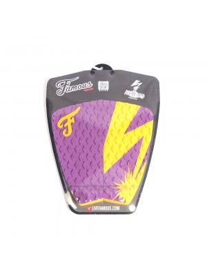 Traction Pad Surf FAMOUS Riot Squad (Kalani David pro model) - Purple / Yellow