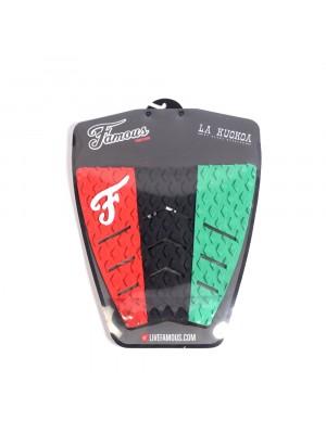 Traction Pad Surf FAMOUS Kuokoa (Kekoa Bacalso pro model) - Red/Black/Green