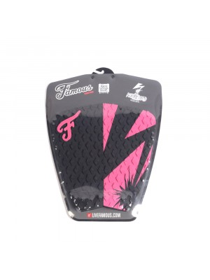 Traction Pad Surf FAMOUS Riot Squad (Kalani David pro model) - Black / Pink