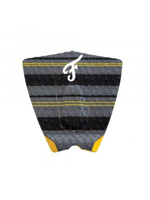 Traction Pad Surf FAMOUS El Rey - Charcoal / Yellow