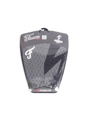 Traction Pad Surf FAMOUS Riot Squad (Kalani David pro model) - Grey / Black
