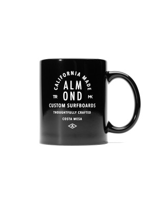 Almond Surfboards - Crafted Mug - Black