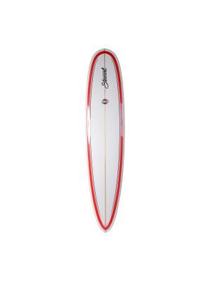 STEWART RedLine-11 Longboard 9' (PU) - Red Pinline