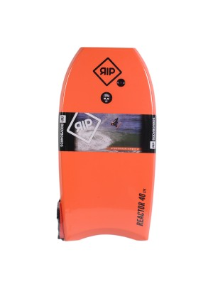 Bodyboard RIP - Reactor Stringer avec leash (EPS) - Orange / Blue
