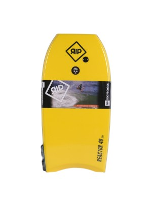 Bodyboard RIP - Reactor Stringer avec leash (EPS) - Yellow / Orange