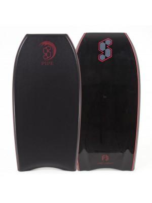 SCIENCE Bodyboard - Pipe Stringer (PE) - Black / Black