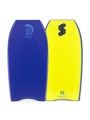SCIENCE Bodyboard - Pipe Stringer (PE) - Dark Blue / Yellow