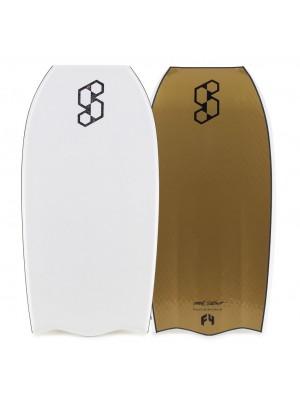 Science Bodyboard - Style Delta Quad Vent PP - White / Gold