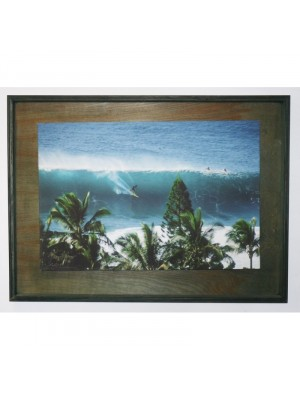 Photographie Surf Vintage JEFF DIVINE 'Gerry Lopez At Pipeline From Hill'