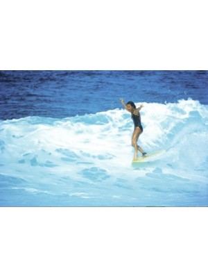 Photographie Surf Vintage JEFF DIVINE 'Jericho Poppler At Haleiwa 1979'