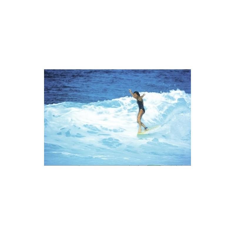 Photographie Surf Vintage JEFF DIVINE 'Jericho Poppler At Haleiwa 1979'