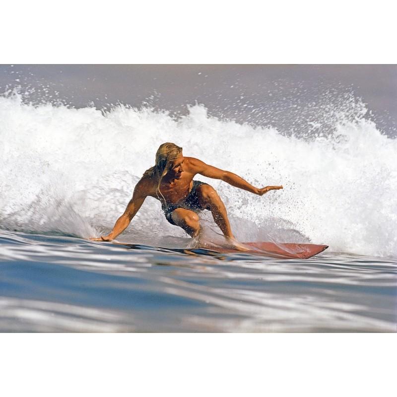 Photographie Surf Vintage JEFF DIVINE 'Tom Ortner Windansea 1970'