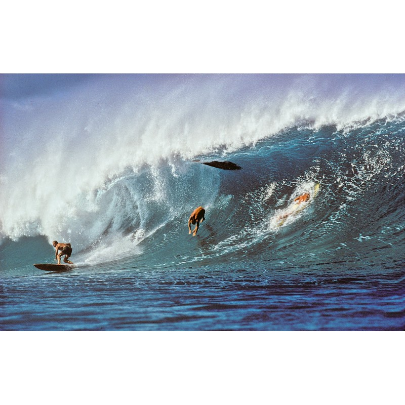 Photographie Surf Vintage JEFF DIVINE 'Pipeline Wipe Out'