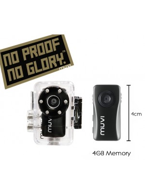 "Kit Caméra VEHO Muvi Atom ""No Proof No Glory"" Handsfree Camcorder"