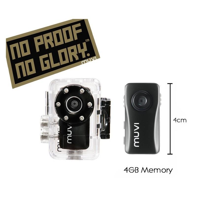"""Kit Caméra VEHO Muvi Atom """"No Proof No Glory"""" Handsfree Camcorder"""