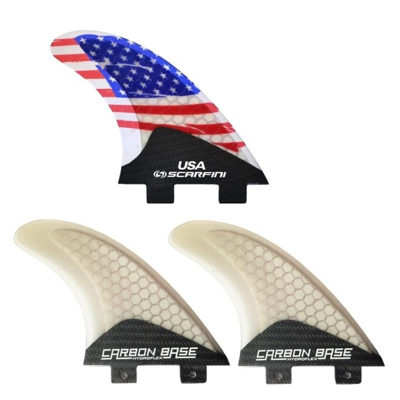 Set de 3 derives SCARFINI USA Flag Fin (taille M) (FCS)