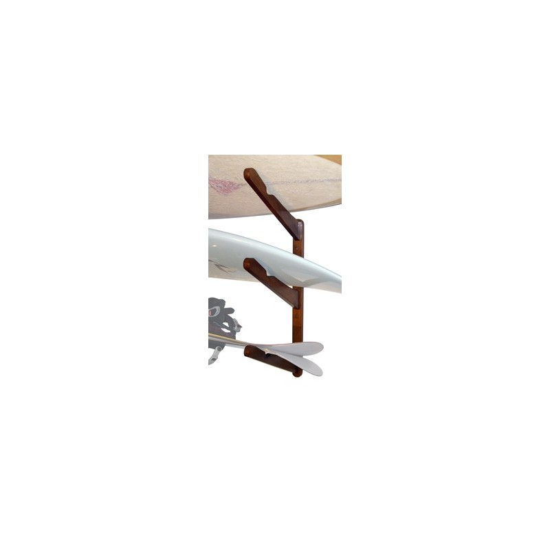 Support mural CORSURF Multi Rack 3 Boards Wood Bambou