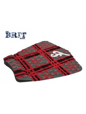 Traction Pad Surf FAMOUS Brit - Charcoal / Noir / Rouge