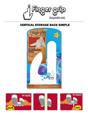 Support Mural Vertical FINGERGRIP Surfboard Rack Single