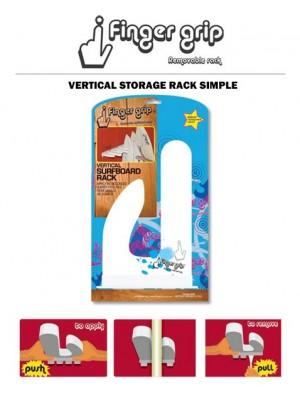 Support Mural Vertical FINGERGRIP Surfboard Rack Single