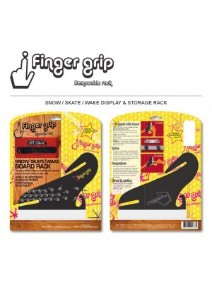 Support Mural horizontal FINGERGRIP Snow/Skate/Wake Rack Double