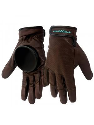 Gants de skateboard MILLER Freeride Advantage brown leather