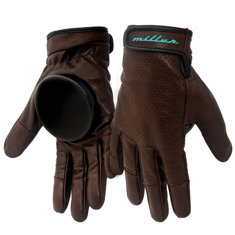 Gants de skateboard MILLER Freeride Advantage brown leather