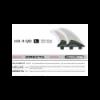 Set de 4 dérives SCARFINI HX4 Quad Carbon (taille L) (FCS)