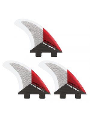 Set de 3 dérives SCARFINI HX3 Carbon (taille M/L) (FCS)
