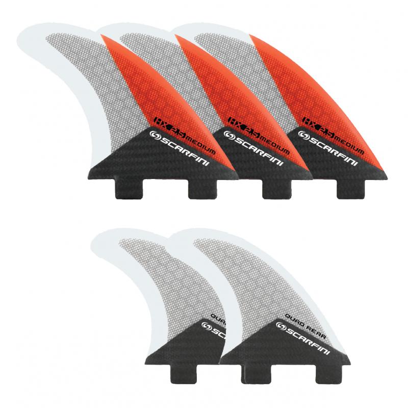 Set de 5 dérives SCARFINI HX2.5 Fiver Carbon (taille M) (FCS)