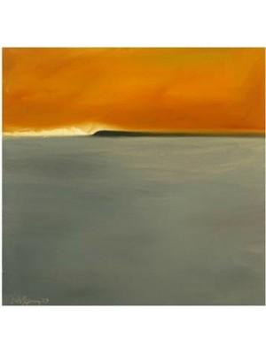 Lithographie WOLFGANG BLOCH Orange & Grey