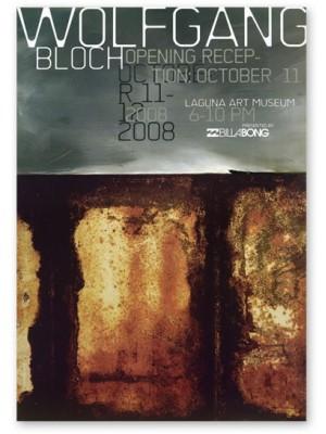 Affiche événement WOLFGANG BLOCH exposition Laguna Art Museum exhibit poster