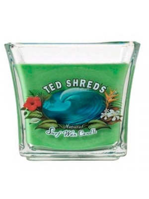 Bougie TED SHRED'S Natural surf Wax Candle Jars 32 oz green