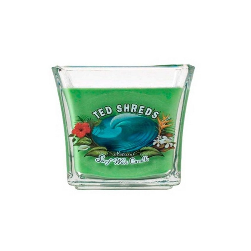 Bougie TED SHRED'S Natural surf Wax Candle Jars 16 oz green