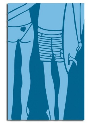 Lithographie ANDY DAVIS Blue Summer Love large print