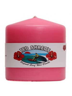 Bougie TED SHRED'S Original Surf Wax Candle Pillars - Rose