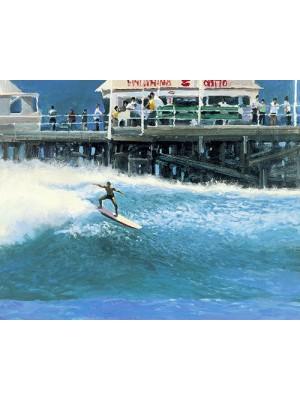 Lithographie KEN AUSTER 'Pier Pressure'