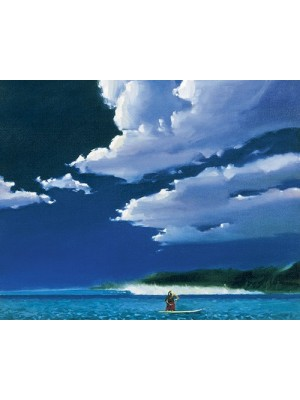 Lithographie KEN AUSTER 'Morning Sun & Surf'