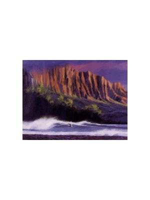 Lithographie KEN AUSTER 'Kauai Coast'