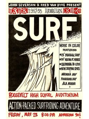 Affiche de Film JOHN SEVERSON 'Surf Movie'