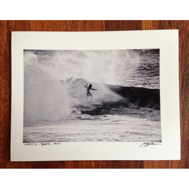 Photographie Surf Vintage JEFF DIVINE 'Gerry Lopez At Pipeline 1971' no 2