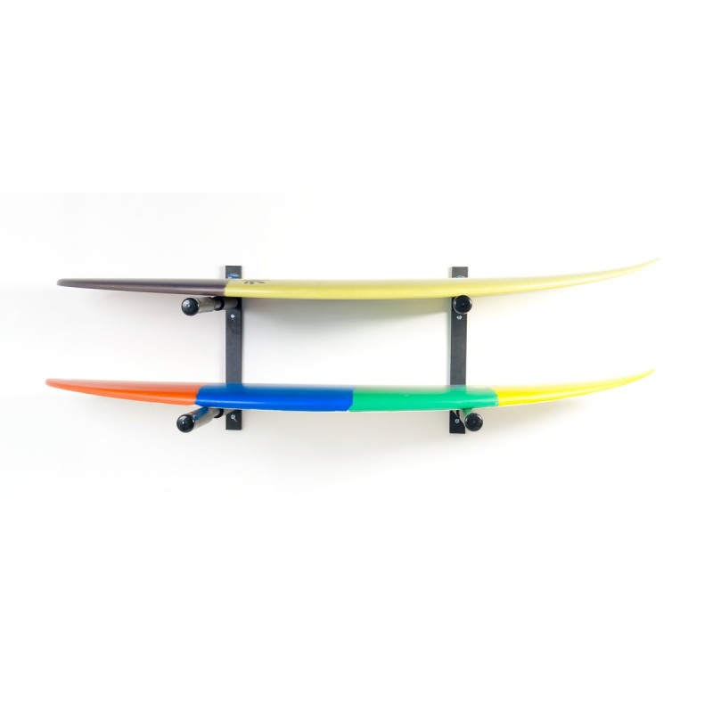 Support Mural SURF SYSTEM Double Rack Shortboards/Longboards/Stand Up Paddle