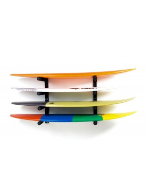 Support Mural SURF SYSTEM - Quadruple Rack Shortboards, Longboards, SUP