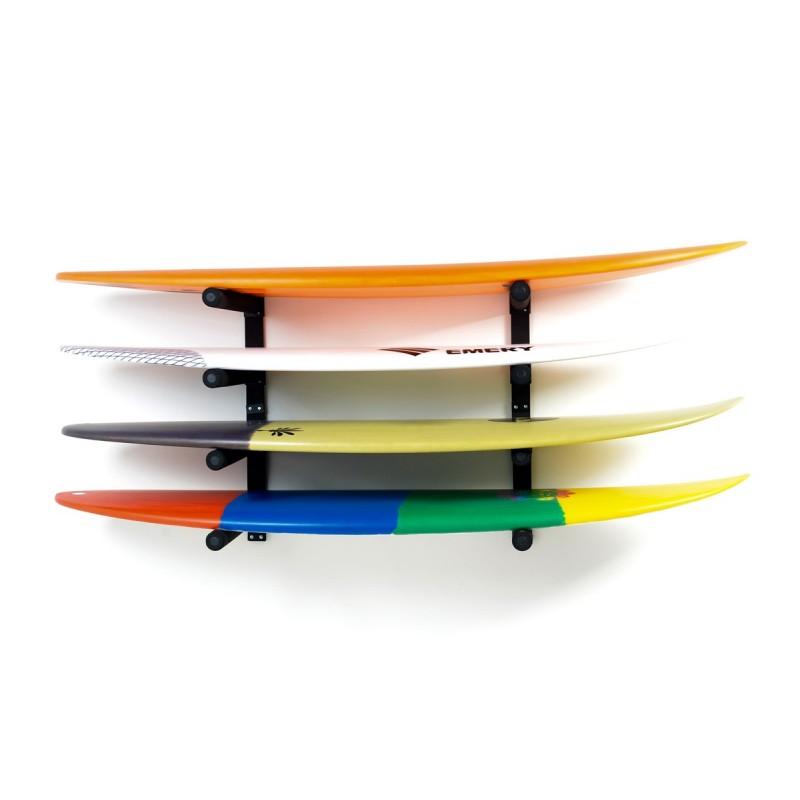 Support Mural SURF SYSTEM - Quadruple Rack Shortboards, Longboards, SUP